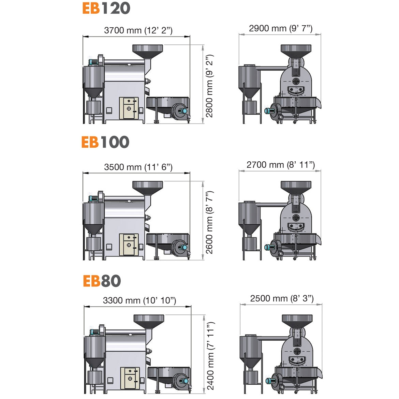 EB120 EB100 EB80- DÖNERLİ KAVURMA FIRINI_Proje