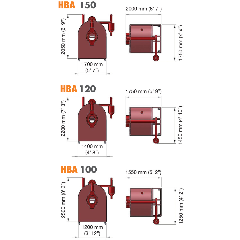 HBA150 HBA120 HBA100- DÖNERLİ KURUTMA MAKİNASI_Proje