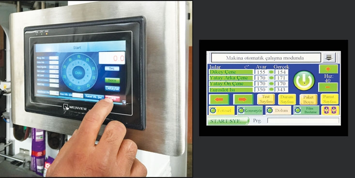 PACKPLUS PS60 - YASTIK VE OTURAN PAKETLEME Kullanıcı Dostu Renkli Dokunmatik Ekran